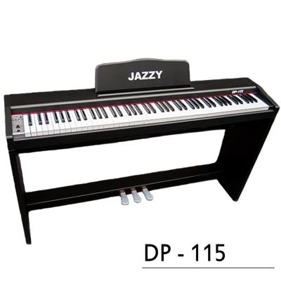 《年度新款88鍵,重鎚力度感應》標準三踏板,簡約質感電鋼琴,雙耳機孔+MP3,非電子琴音色