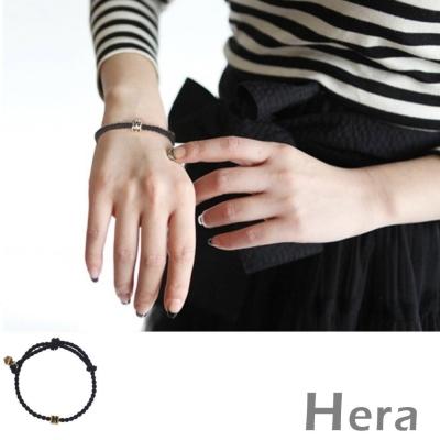 Hera 赫拉 太陽的後裔宋仲基同款M印字編織手鍊-二色