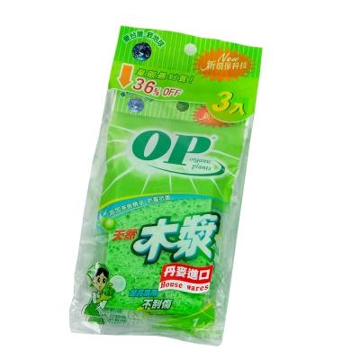 OP天然木漿菜瓜布(3入)