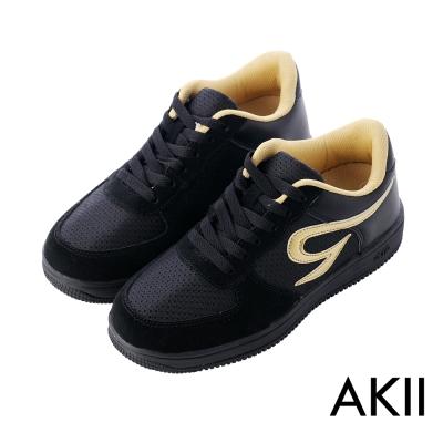 AKII韓國空運 運動時尚內增高6公分AIR休閒鞋 6CM 黑