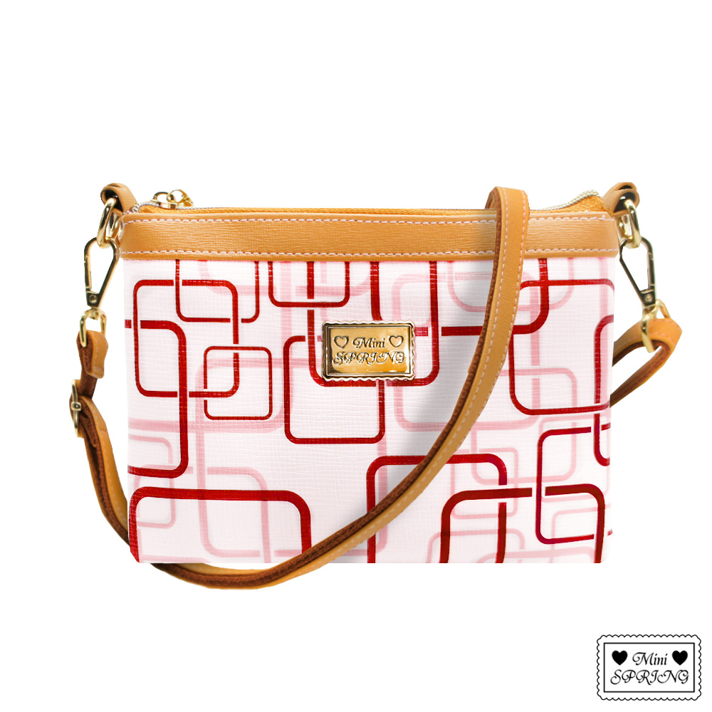 MINI SPRING-casual日常甜蜜迷你兩用側背包-紅