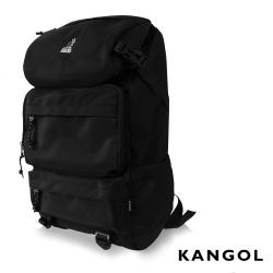KANGOL 英式時尚登山高機能大容量13吋筆電層後背包(黑) KG1106