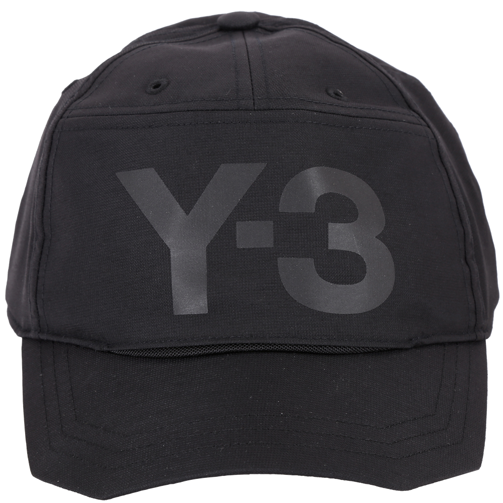 Y-3 Front Back 側截角設計棒球帽(黑色)