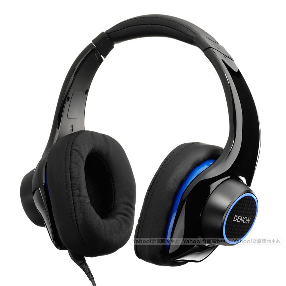 天龍 DENON AH-D400 LED光環 線控 耳罩耳機