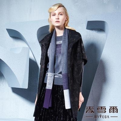麥雪爾  菱格織紋金蔥長版外套