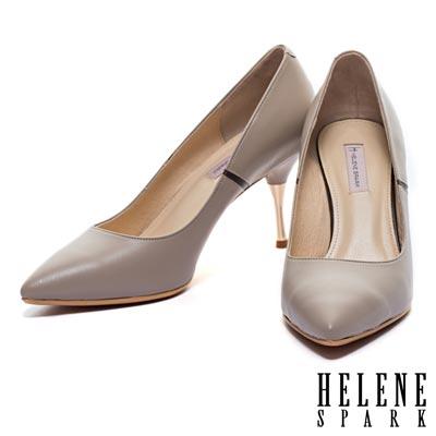 高跟鞋-HELENE-SPARK-撞色拼接典雅造型