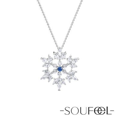 SOUFEEL索菲爾 925純銀項鍊 雪花(小)