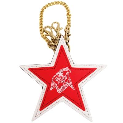 agnes b.星型皮革鑰匙圈(紅)