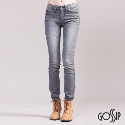 Gossip-中腰緊身窄款褲-灰