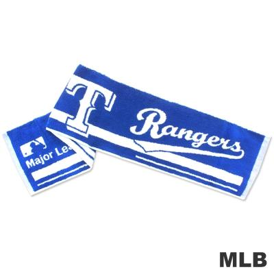 MLB-德州遊騎兵隊橫式文字款運動長巾-藍色
