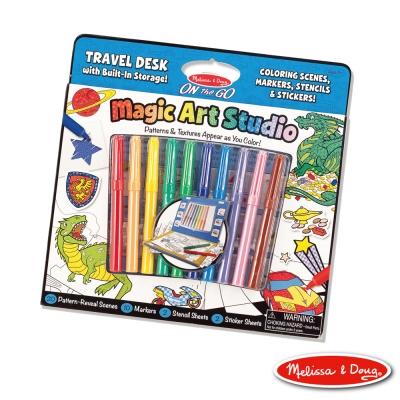 美國瑪莉莎 Melissa & Doug-攜帶式神奇圖畫創作包 - 藍色