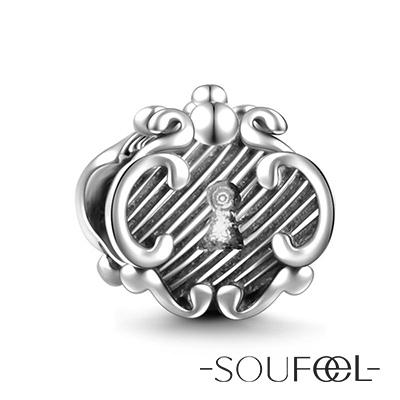 SOUFEEL索菲爾 925純銀珠飾 復古鎖 串珠