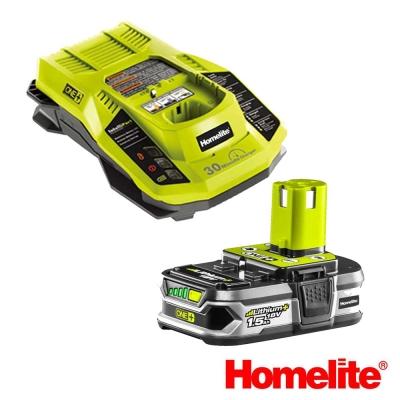Homelite 18V鋰電池充電組 (鋰電池*1 , 充電器*1 )