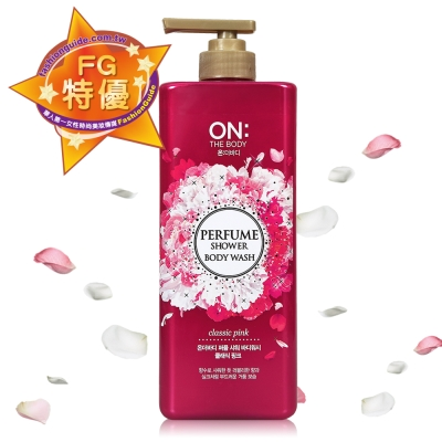 ON THE BODY 粉紅甜心香水沐浴精 900ml