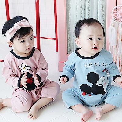 Baby unicorn 粉紅米妮長袖連身衣