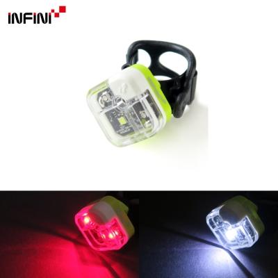 【INFINI】ARIA I-220W 多用途LED前後共用警示燈 前燈後燈/台灣製-綠色