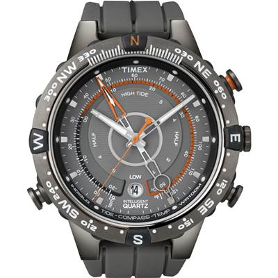 TIMEX IQ遠征羅盤系列多功能腕錶-灰黑/45mm