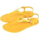 PRADA 漆皮夾腳涼鞋(黃色)