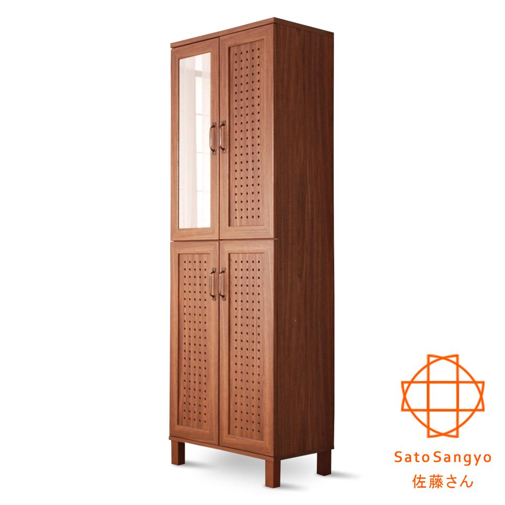 Sato - GENKA時間絮語四門鏡面高鞋櫃 W58*D35*H173cm