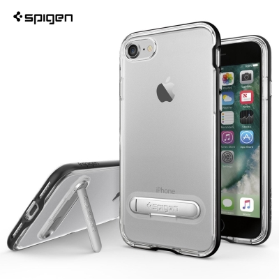 SPIGEN iPhone 7 Crystal Hybrid 雙件式透明立式手機...