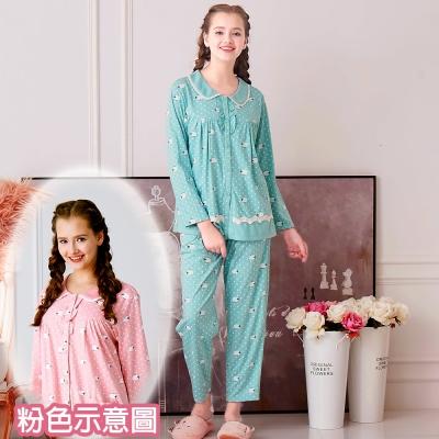 睡衣 精梳棉柔針織 長袖兩件式睡衣(67207)粉色 活力綿羊 蕾妮塔塔