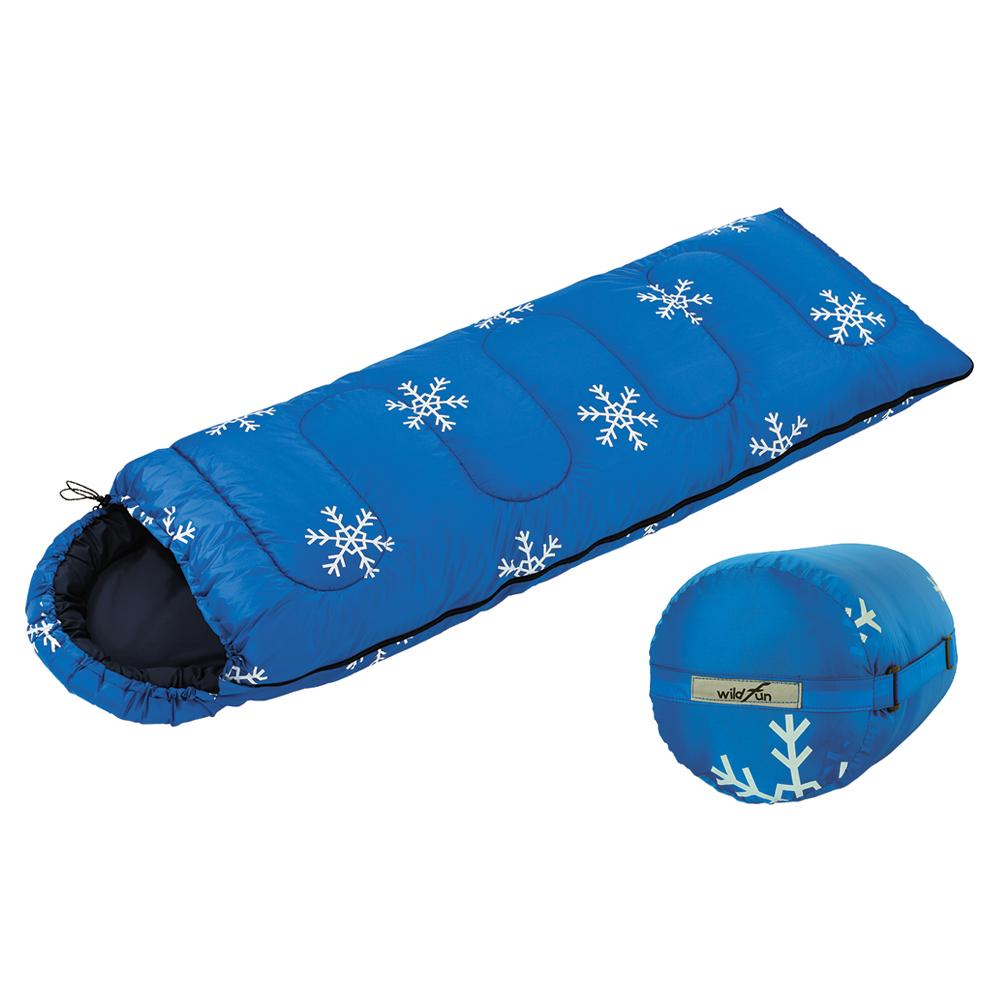 WildFun 野放經典型休閒睡袋 雪花