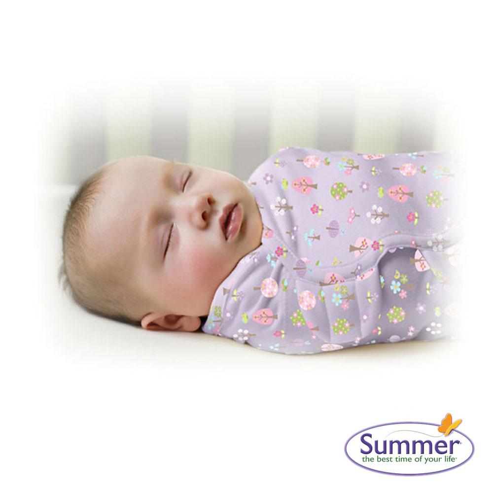 美國品牌 Summer Infant 嬰兒包巾 懶人包巾薄款 - 純棉S 甜夢花園