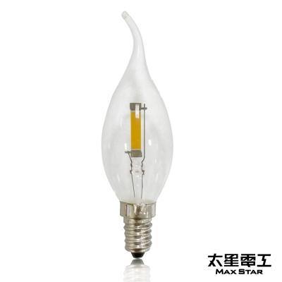 太星電工 星鑽光LED拉尾磨砂泡E14/0.9W/暖白光  ANC379L