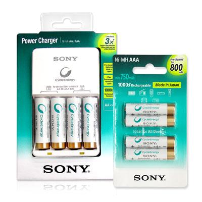 SONY 低自放電經濟型 充電組(搭配4號電池4顆)
