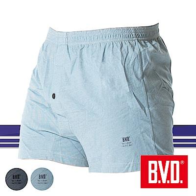 BVD 單寧風針織五片式開檔四角褲-單件(中麻綠)