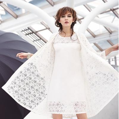 曼黛瑪璉-Marie One七分袖外袍(牙白)