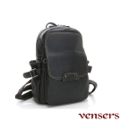 vensers小牛皮潮流個性包~後背包(N30201黑色)