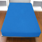 Yvonne Collection雙人純棉床包-中藍