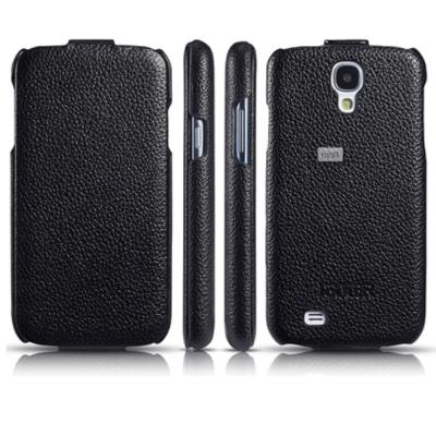 iCarer 三星 Galaxy S4 i9500 頂級小牛皮下掀式皮套