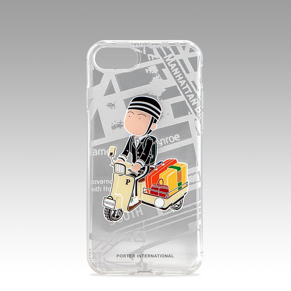 PORTER - 造型圖紋 iPhone 7透明保護背蓋