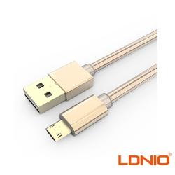 LDNIO Micro USB快速充電編織傳輸充電線LS24