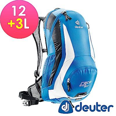【ATUNAS 歐都納】德國DEUTER自行車網架背包/運動登山背包32133藍/白