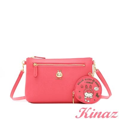 KINAZ x Kitty x Rody 甜點時刻~美味甜點斜背包-莓果桃