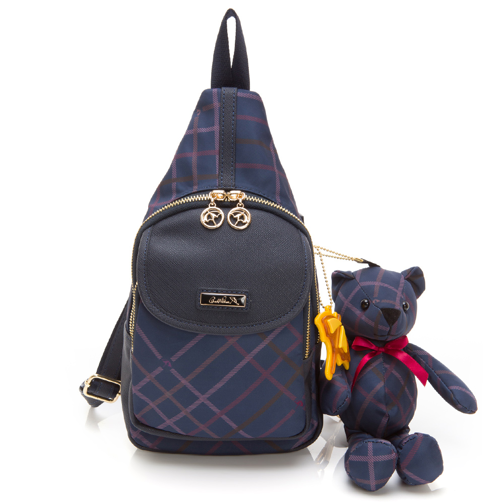 Arnold Palmer- 單肩背包 Bag&Bear B & B 系列-藍色
