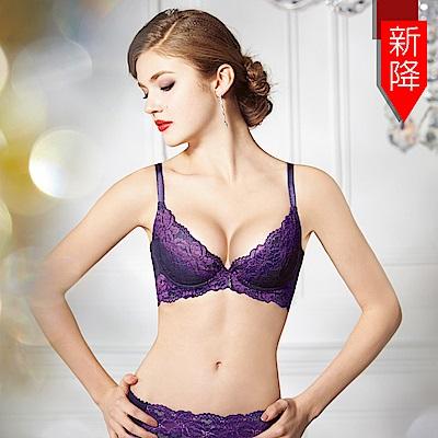 曼黛瑪璉-15SS-V極線內衣  B-E罩杯(時尚紫)