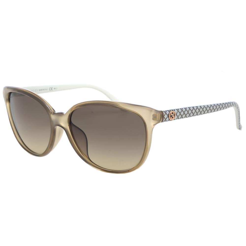 GUCCI-時尚太陽眼鏡(淺褐)
