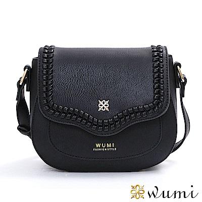 WuMi 無米 蜜琪法式甜美mini馬鞍包 香奈黑