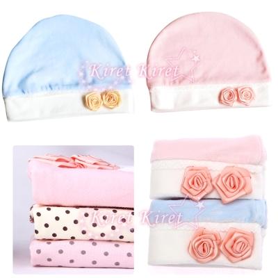 Kiret 天鵝絨玫瑰款月子帽 孕婦媽咪 產後帽
