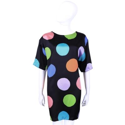 MOSCHINIO 黑色彩繪圓點短袖洋裝
