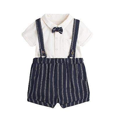baby童衣 寶寶短袖包屁衣+吊帶褲 套裝 80037