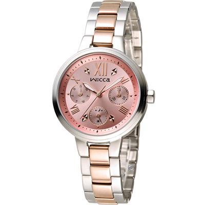 WICCA 英倫少女時尚腕錶(BH7-539-91)-雙色/34mm