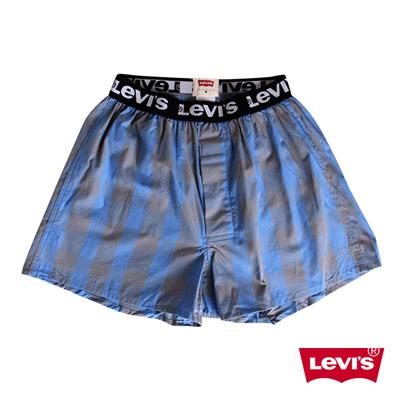 Levis-藍灰格紋四角褲