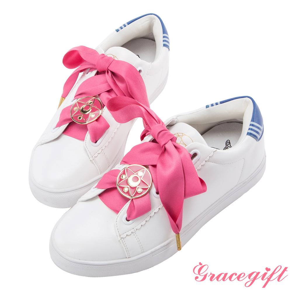 Grace gift-美少女戰士變身器緞帶休閒鞋 深藍