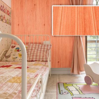 韓國3D立體DIY仿木紋壁貼/仿檜木紋壁貼 (橘色)_15片