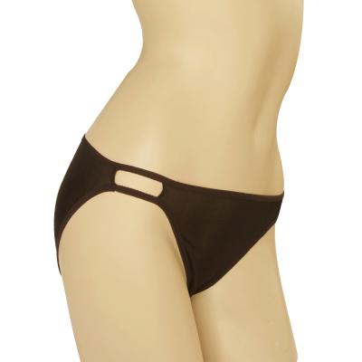 三角褲 100%蠶絲性感縷空低腰內褲2件組M-XL(黑) Seraphic
